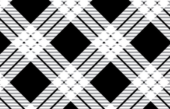 Black and white tartan plaid pattern.Vector illustration.