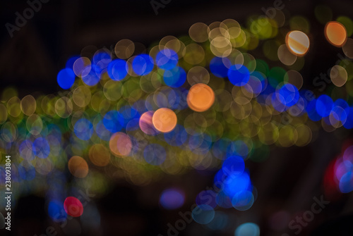 Christmas, New Year, holiday blurred background, bokeh, full colors