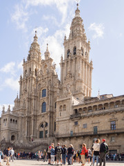 Catedral de Santiago de Compostela en Galicia, España, vacaciones de 2018