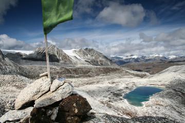 View from Rinchen Zoe La (5,300m) pass, Snowman Trek Bhutan