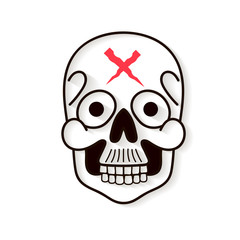 skull logo on white background vector illustration