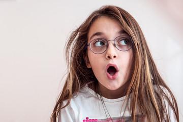 Portrait of a shock little girl