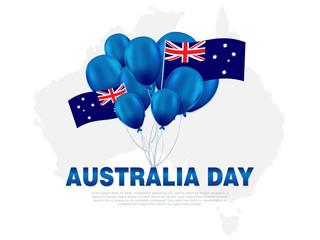 illustration Happy Australia Day Celebration poster or banner Background set