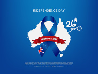 illustration Happy Australia Day Celebration poster or banner Background set