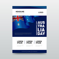 Happy Australia Day Vector illustration. Suitable for Greeting card, poster and banner