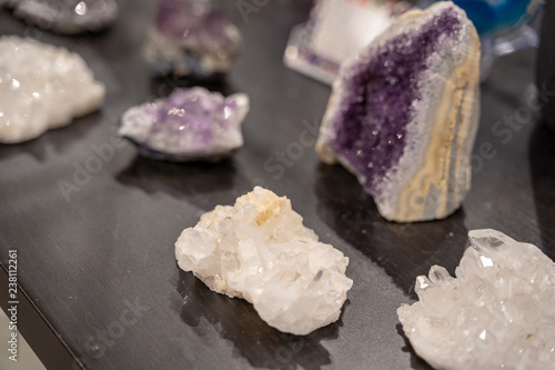 Several Types of Crystals on display
