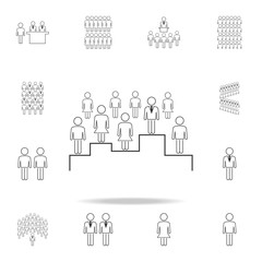search for the right employee icon. Detailed set of people in work icons. Premium graphic design. One of the collection icons for websites, web design, mobile app