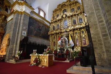 Interior decor of the Huamanga Cathedral Basilica of St. Mary, Ayacucho, Peru