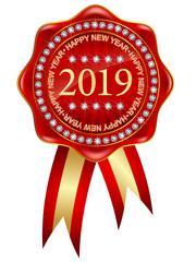 2019 新年 メダル アイコン