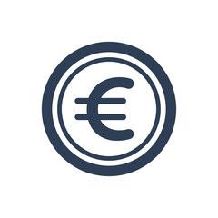 Simple Illustration of Euro / coin Icon