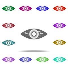 digital eye icon. Elements of Hacker in multi color style icons. Simple icon for websites, web design, mobile app, info graphics