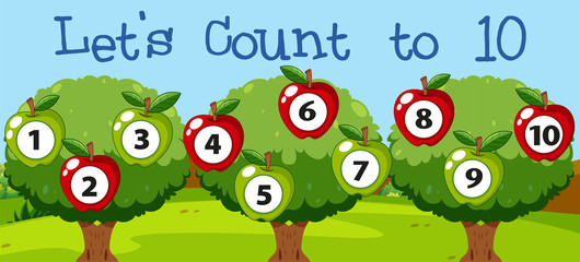 Math couting apple to ten