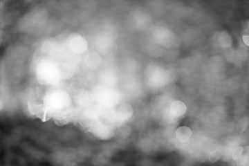 Monochrome abstract background with bokeh