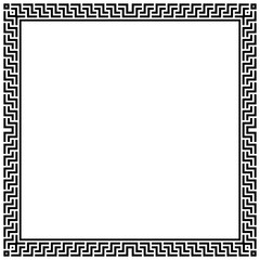 Decorative frame Elegant vector element for design in Eastern style, place for text. Geometric black border. Lace illustration for invitations and greeting cards