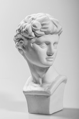 Ancient Athens sculpture,David sculpture, gray  background