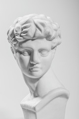 Ancient Athens sculpture,David sculpture, gray  background
