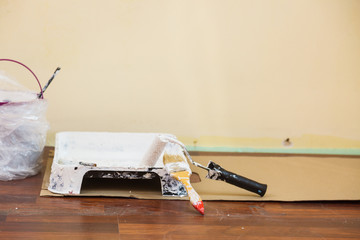 White paint with essentials equipment