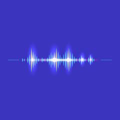 Aluminium Prints Abstract wave Sound wave rhythm symbol with minimalistic style. Vector illustration.