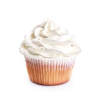 Cupcake isolated on white background.