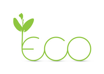 Green Eco sprout icon vector illustration