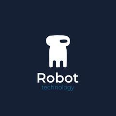 robot technology logo. vector design