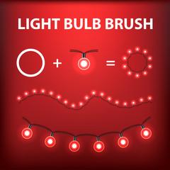 Christmas Light Bulb Garland Creator Brush