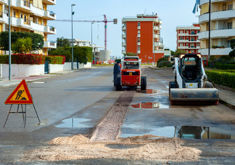 sweeper attachments mini excavator and milling asphalt.