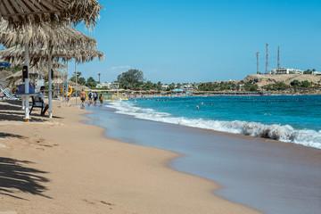 The beach at Naama Bay in Sharm el Sheik