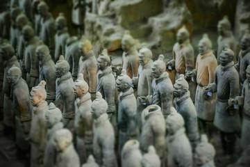 Tuinposter Xian XI'AN, CHINA, DECEMBER 25 2017: The terracotta warriors army of the emperor Qin Shi Huang