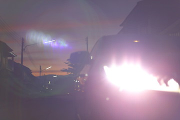 Fotomurales - headlight vehicle car