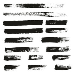 Paint Brush Thin Lines High Detail Abstract Vector Background Set 146