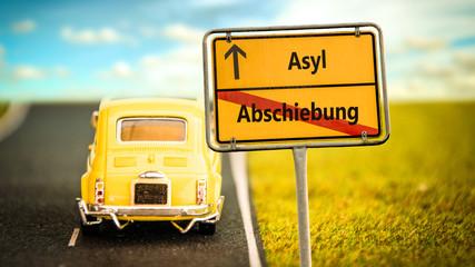 Schild 355 - Asyl