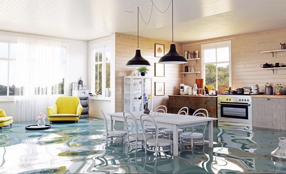 The modern home interior