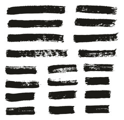 Paint Brush Thin Lines High Detail Abstract Vector Background Set 117
