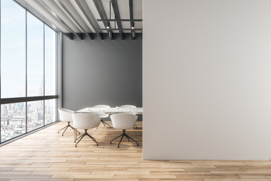 Clean office with copyspace