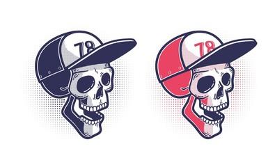 Skull in a baseball cap
