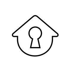 Simple House With Keyhole, Vector Illustration
