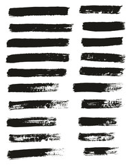 Paint Brush Thin Lines High Detail Abstract Vector Background Set 76