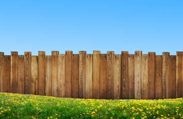 beautiful backyard with wooden fence