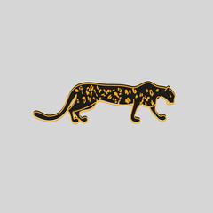 stylized leopard, cheetah