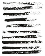 Paint Brush Thin Lines High Detail Abstract Vector Background Set 56