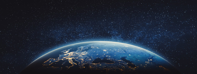 Planet Earth - Europe. Elements of this image furnished by NASA Wall mural