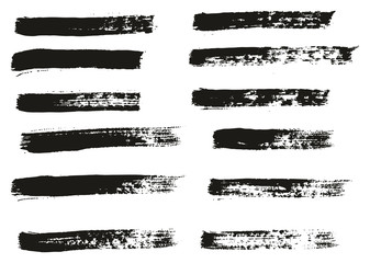 Paint Brush Thin Lines High Detail Abstract Vector Background Set 42