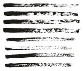 Paint Brush Thin Lines High Detail Abstract Vector Background Set 32
