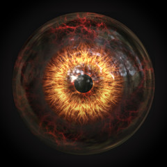 scary devils eyeball