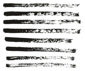 Paint Brush Thin Lines High Detail Abstract Vector Background Set 30