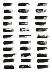 Paint Brush Thin Lines High Detail Abstract Vector Background Set 22