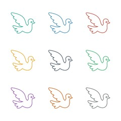 bird icon white background. Editable line bird icon from family. Trendy bird icon for web and mobile.