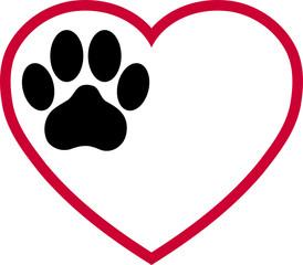 Herz und Katzenpfote, Pfote Logo