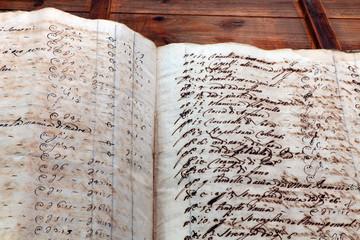 Fototapeta Antike Schriften aus dem 17. Jahrhundert